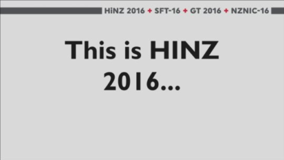 HiNZ 2016 (Health Informatics NZ)
